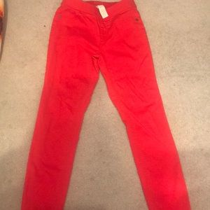 Red justice slim size 12 mid rise legging pants